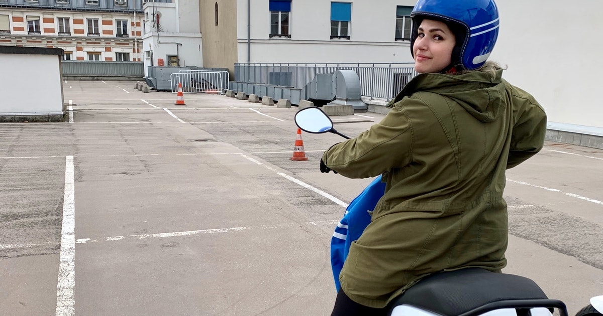 I Tried Uber's New Mopeds & Had A Total 'Passport To Paris' Moment