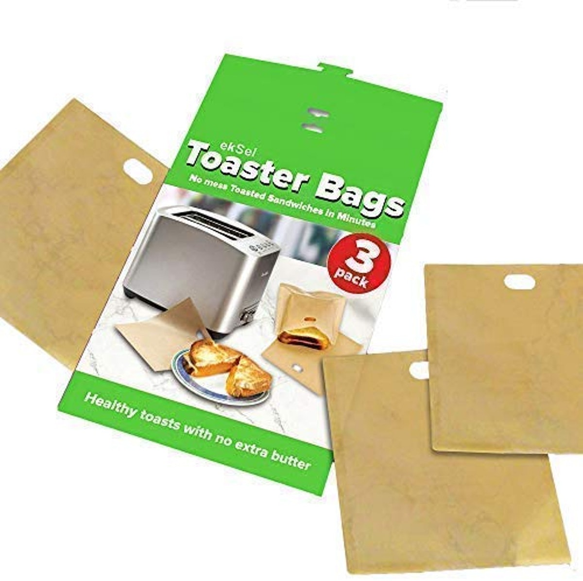 EkSel Toaster Bags Gluten Free Toasts (3-Pack)
