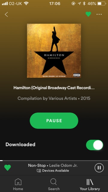 I fall asleep to Hamilton and you should, too — especially now that you can turn it off through a Spotify sleep timer.