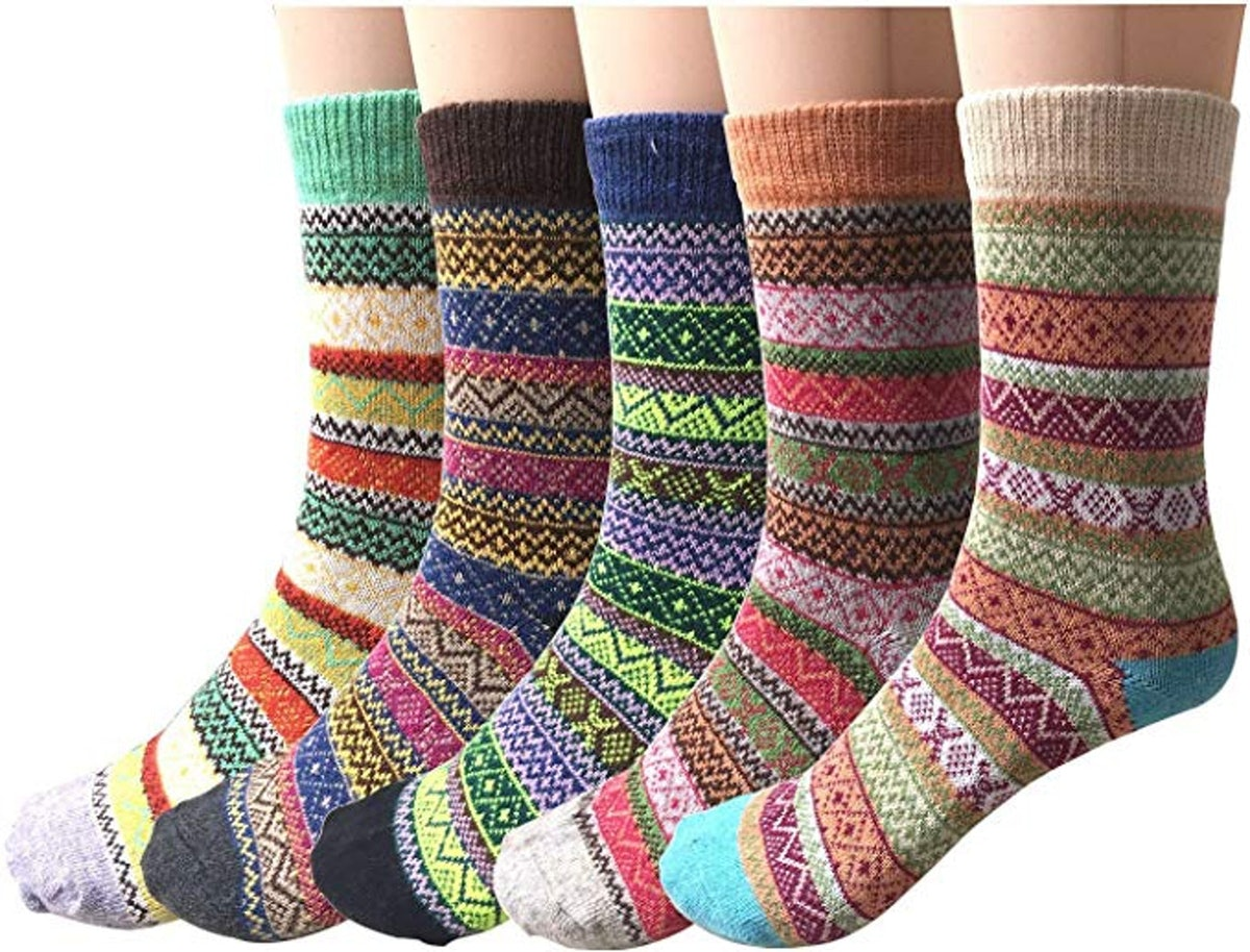 Justay Womens Wool Socks (5-Pack)