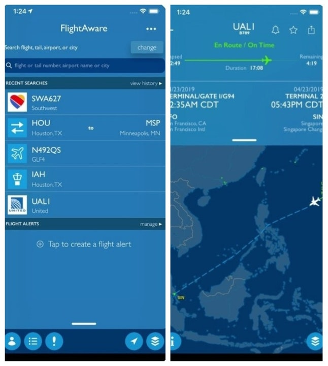 The FlightAware flight tracking app keeps you up to date on any holiday travel issues impacting your flight home.