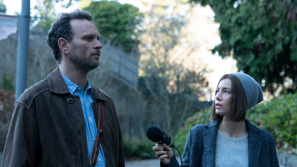 Jessica Biel as Lia Haddock in 'Limetown' based on the podcast of the same name.