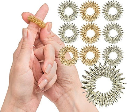 Spiky Sensory Finger Rings (10-Pack)