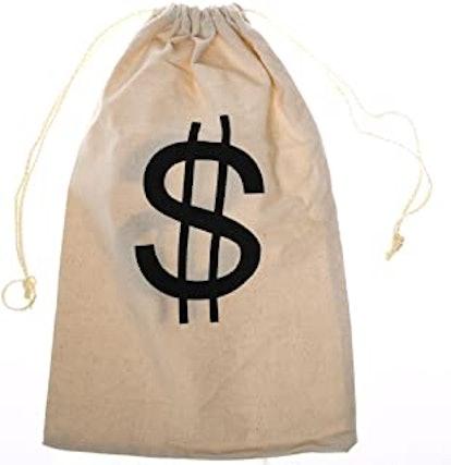 Large $ Money Drawstring Bag