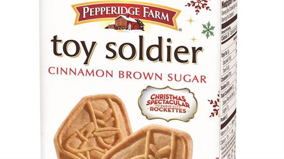 The new Toy Solider cookie from Pepperidge Farm has a Cinnamon Brown Sugar flavor.
