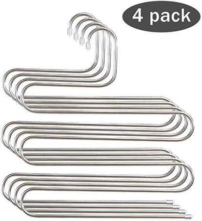 STAR-FLY Stainless Steel S-shape 5 Layer Clothes Hangers for Space Saving Storage
