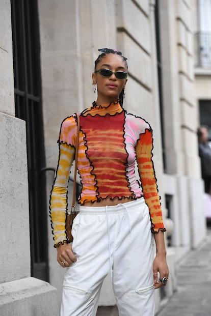 turtleneck street style at Paris Fashion Week