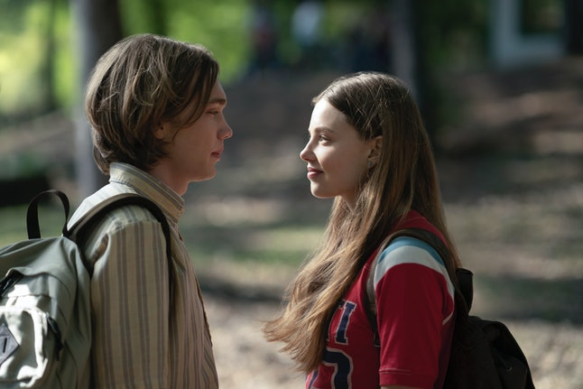 Kristine Froseth and Charlie Plummer as Alaska and Miles on Hulu's 'Looking for Alaska.'