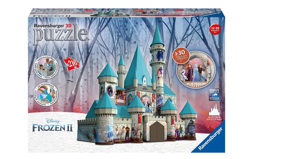 The Frozen 2 puzzle from Ravensburger is a giant, 3D castle