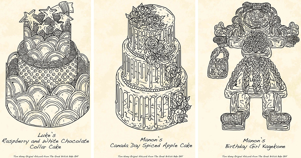 The 'Great British Bake Off' Cake Illustrations Are For Sale Online