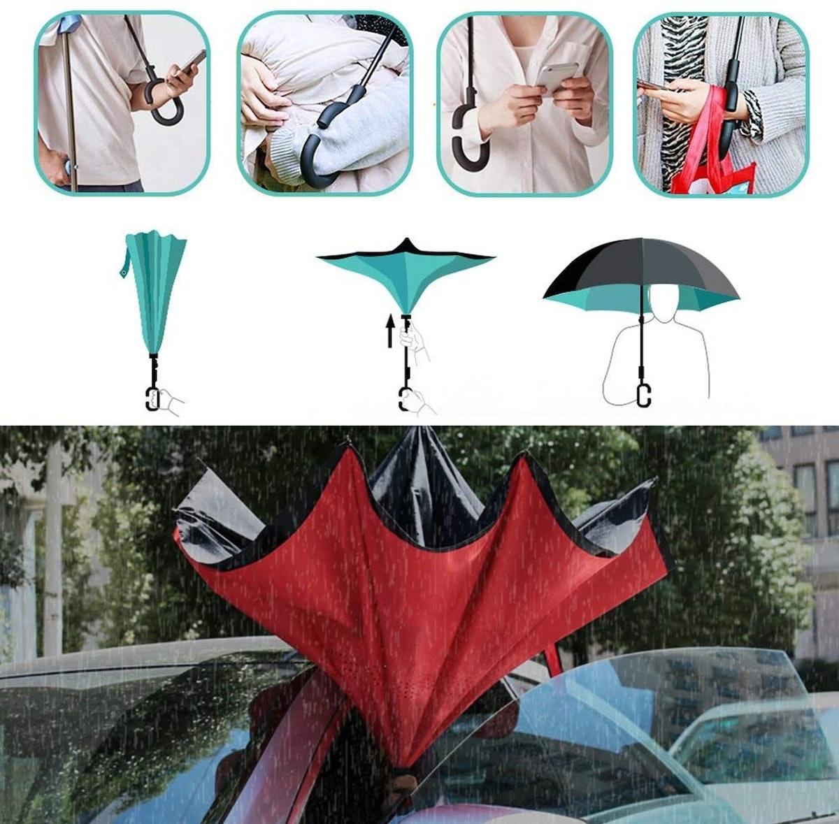 Owen Kyne Windproof Double Layer Folding Umbrella