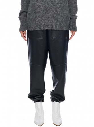Tissue Leather Pants