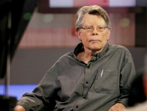 Author Stephen King, on the set of Good Morning America in 2015.