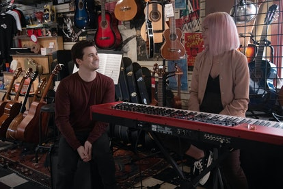 Maggie and Eric sitting in a music store on A Million Little Things