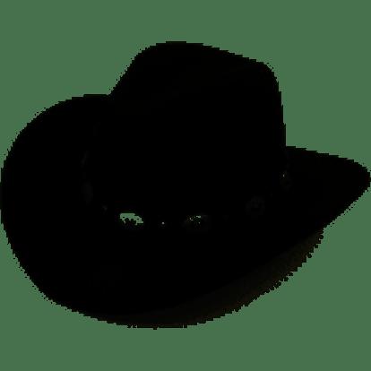 en Wool Blend Western Cowboy Hat Wide Brim Cowgirl Jazz Cap Leather Band