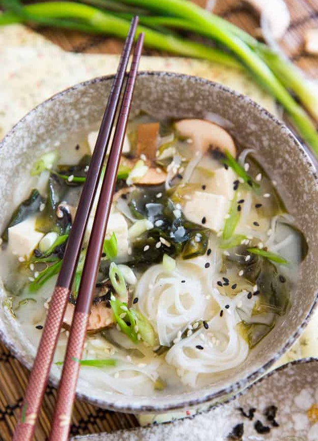 The 5-Ingredient Instant Noodle Miso Soup recipe from The Healthy Foodie only takes 10 minutes to make, perfect for a quick lunch