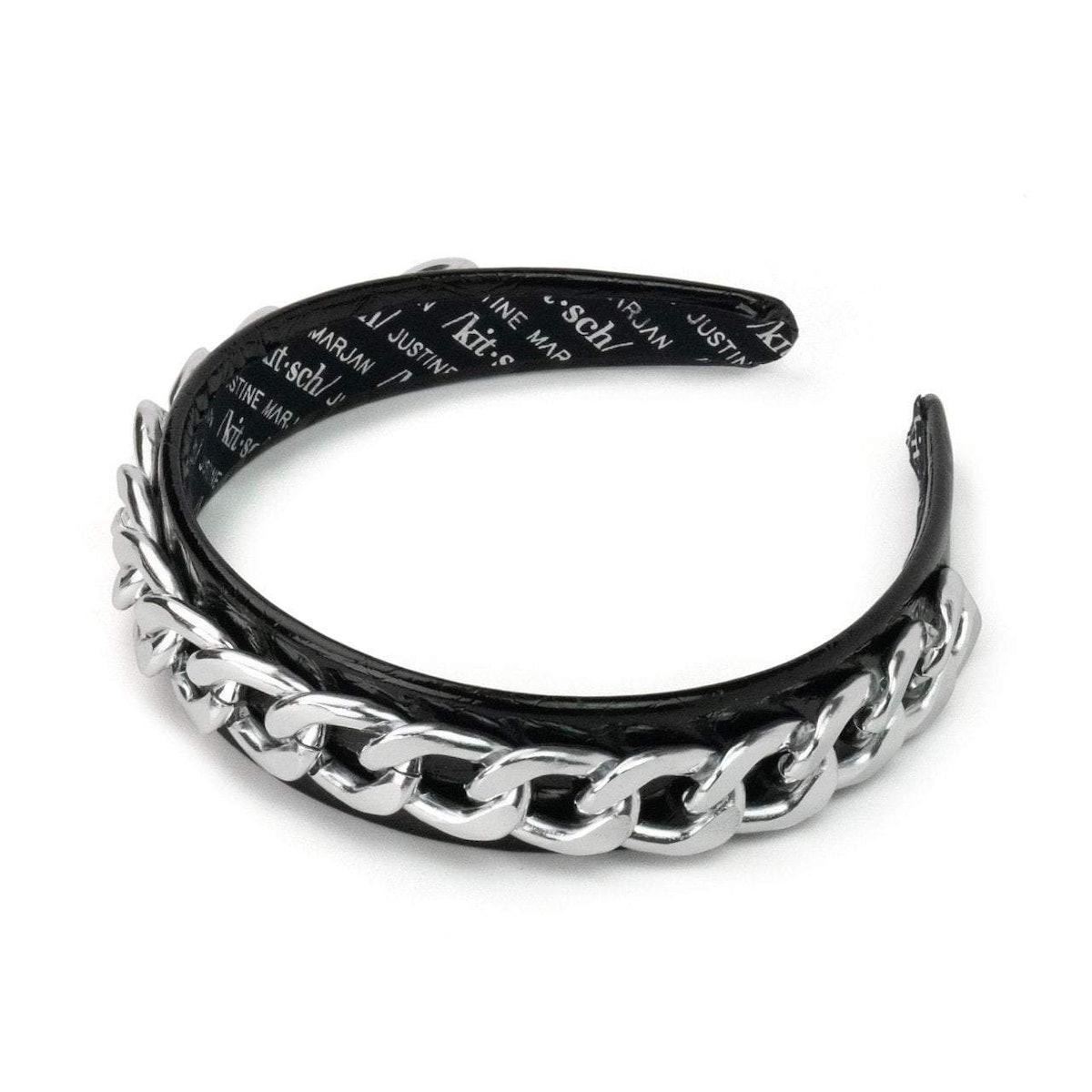 Patent Headband With Chain