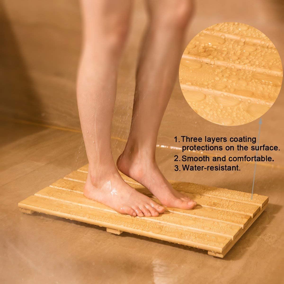 GOBAM Bamboo Bath Mat