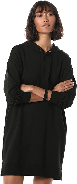 The Drop Iona Long Sleeve Hooded Mini Sweatshirt Dress