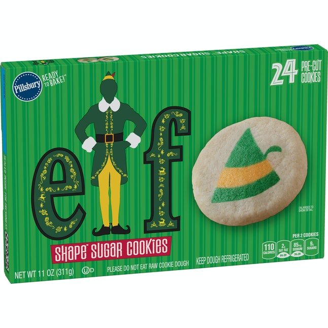 The Pillsbury Elf Shape Sugar Cookies are back with Buddy the Elf.