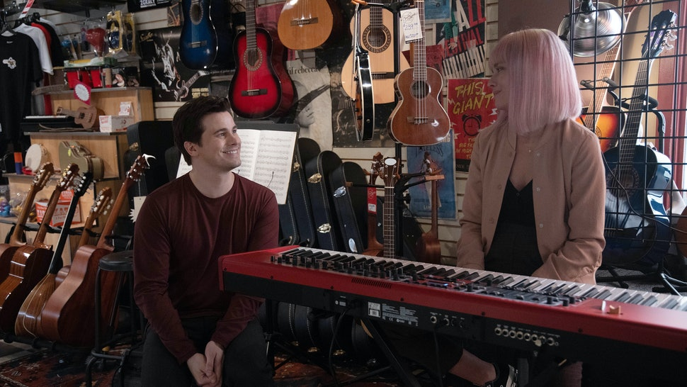Maggie and Eric in a music shop on A Million Little Things