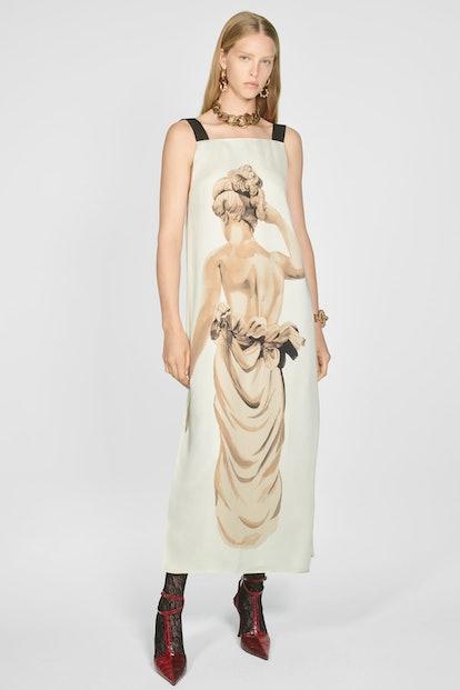 Statue Print Dress