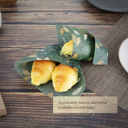 AwesomeWare Beeswax Reusable Food Wraps (5-Pack)