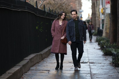 Miles (Paul Rudd) and Kate (Aisling Bea) go for a romantic walk in 'Living With Yourself.'