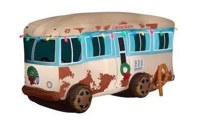 Warner 4 ft. Pre-lit Inflatable NLCV RV Scene with Logo-Airblown Scene