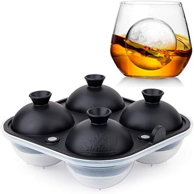 Samuelworld Large Sphere Ice Tray Mold Whiskey Big Ice Maker
