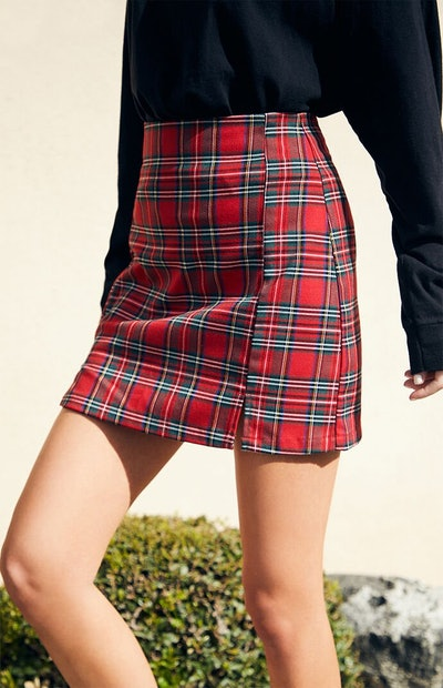 John Galt Plaid Cara Skirt