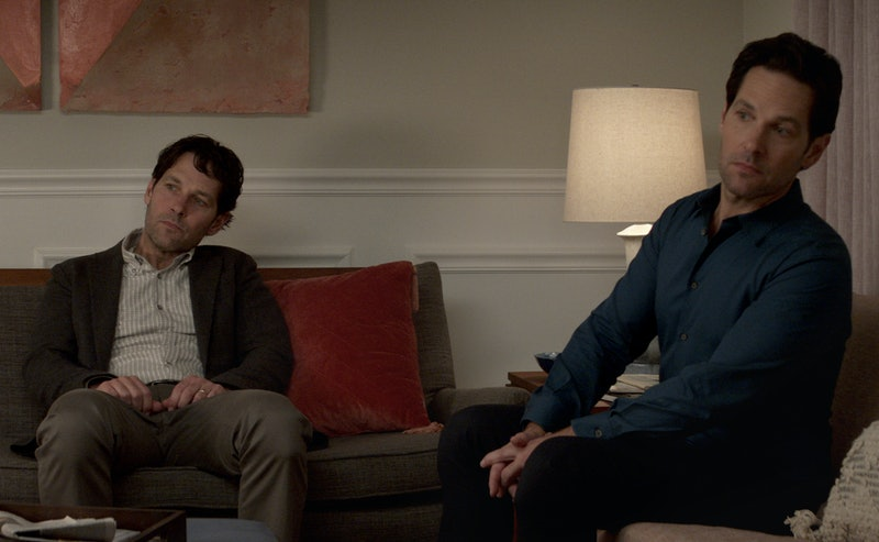 Paul Rudd as Old Miles and Clone Miles in 'Living with Yourself'