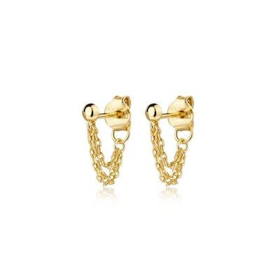 Jones Triple Chain Stud Earrings