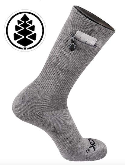TCK Brands Stash & Dash Zip Pocket Crew Socks (3 Pack)