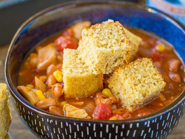 Your Cup of Cake's recipe for BBQ Chicken Soup is a super-fast, easy weeknight meal