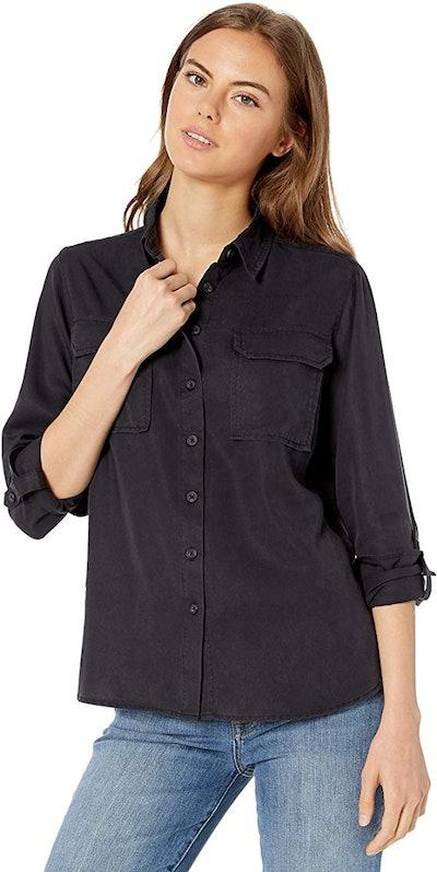 The Drop Erin Long Sleeve Utility Pocket Shirt