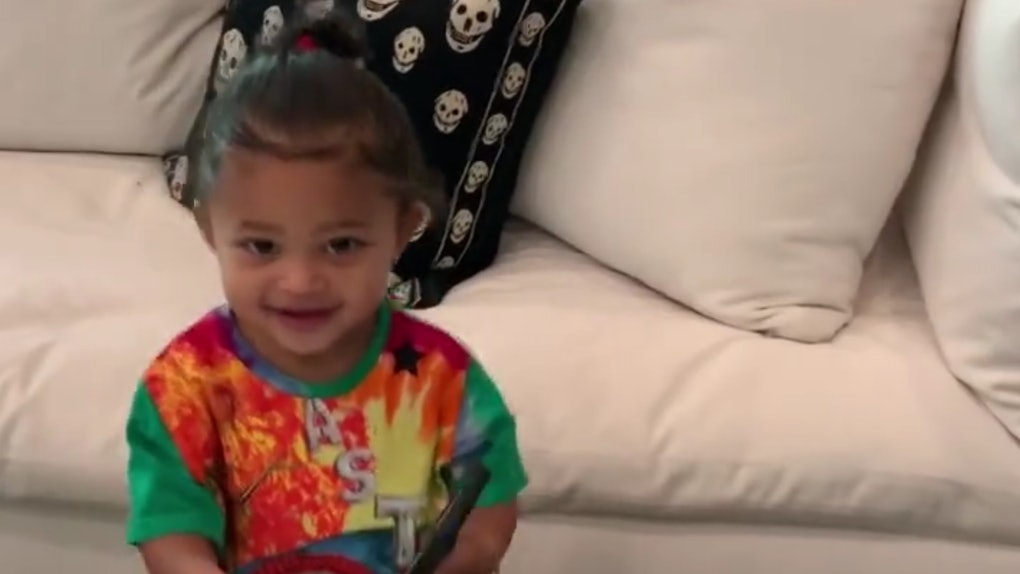 Stormi Webster asking Kylie Jenner to listen to Travis Scott's music