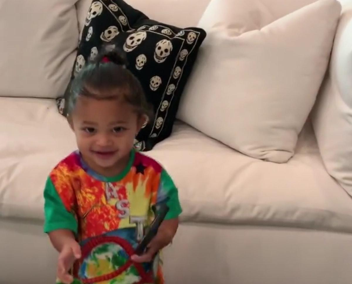 Stormi Webster asking Kylie Jenner to listen to Travis Scott's music