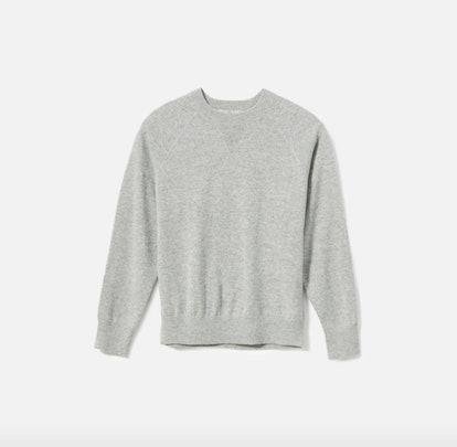 The Cashmere Shrunken Sweatshirt