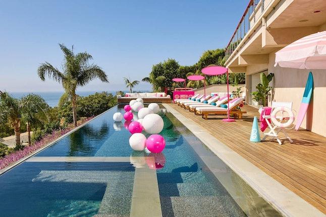 Barbie's Malibu Dreamhouse on Airbnb sports a gorgeous infinity pool.