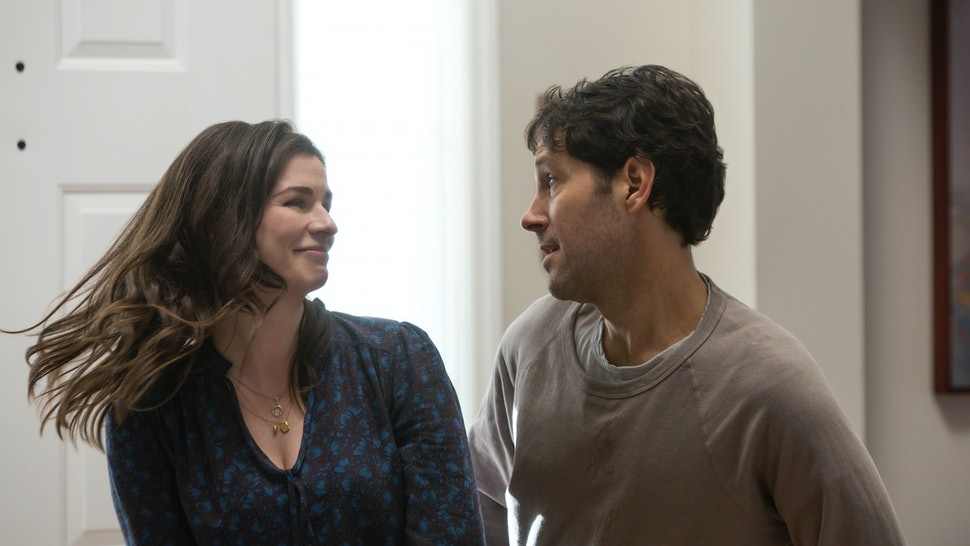 Aisling Bea and Paul Rudd's characters have a special dance in Living With Yourself