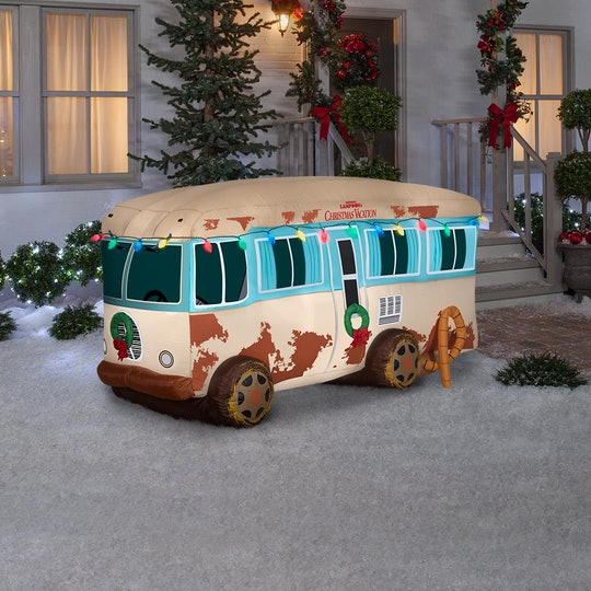 A 'National Lampoon's Christmas Vacation' RV inflatable is perfect yard decor for Christmas.