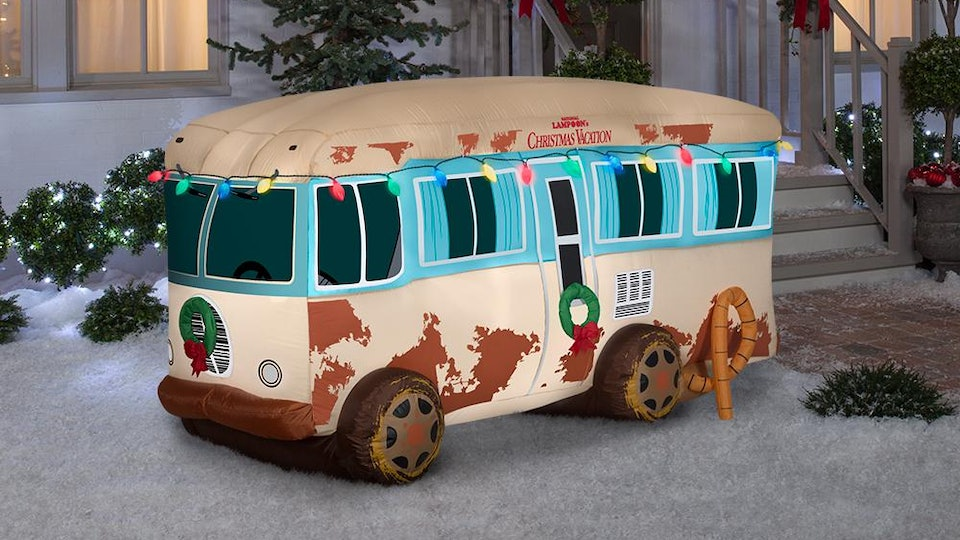 Christmas Vacation Rv.Warner 4 Ft Pre Lit Inflatable Nlcv Rv Scene With Logo Airblown Scene