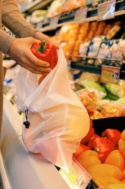 purifyou Premium Reusable Mesh Produce Bags (9-Piece Set)