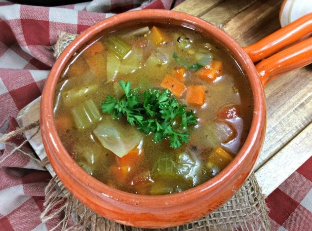 The Instant Pot Cabbage Soup recipe from Princess Pinky Girl is a quick, simple meal loaded with veg...