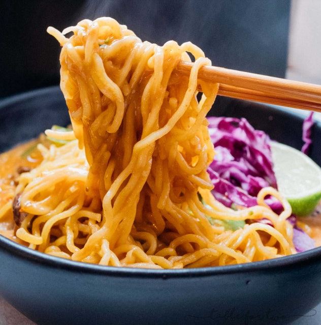 The coconut curry ramen recipe from Table for Two is fast and flavorful