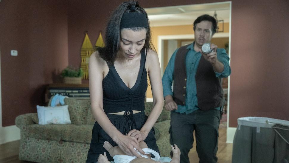 Christian Serratos and Josh McDermitt play Eugene and Rosita on The Walking Dead in Season 10