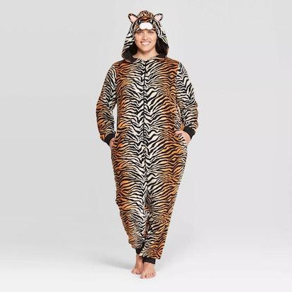 Women's Plus Size Tiger Union Suit