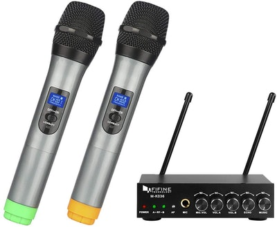 Fifine Dual Channel Wireless Microphone System