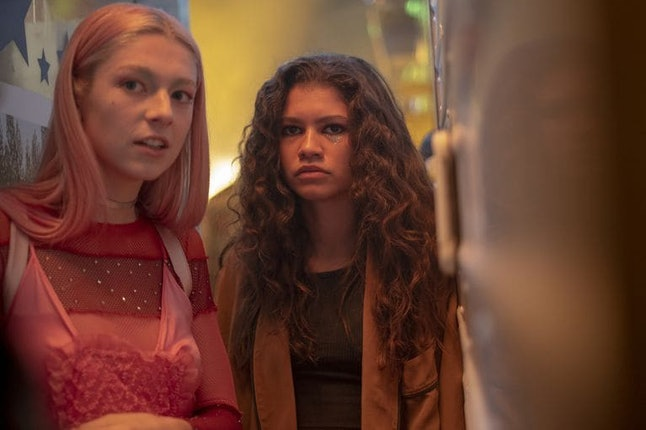Zendaya and Hunter Schafer in Euphoria